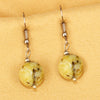 Imeora Serpentine 12mm Natural Stone Earrings