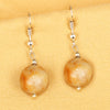 Imeora  Yellow Jasper 12mm Natural Stone Earrings