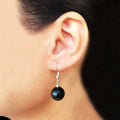 Black Agate Earring