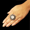 925 Silver Multicolor Ring With Zircon Center