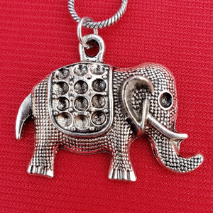 Imeora Oxidised Silver Elephant Pendant With 20 inch Chain