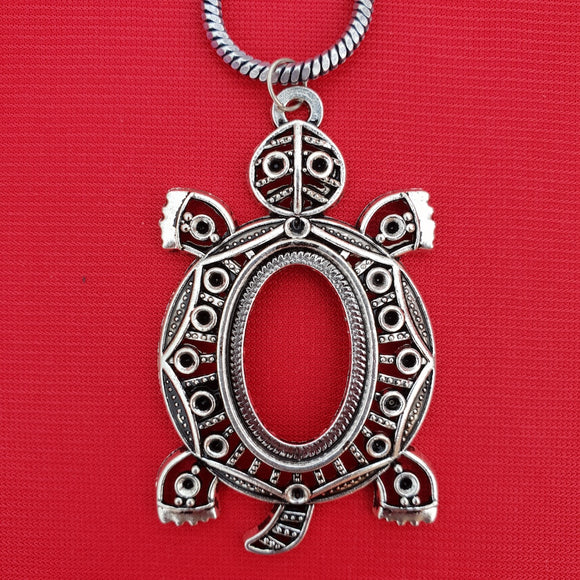 Imeora Tortoise Pendant With 24 inch Chain