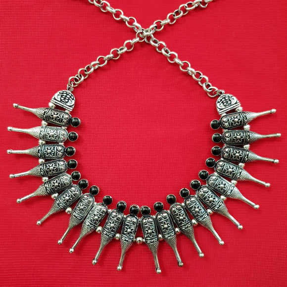 Imeora Tribal Bottle Necklace With Black Stone