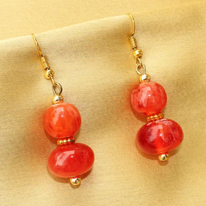 Imeora Transparent Red Earrings
