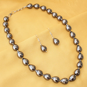 Imeora Exclusive Metallic Black Shell Pearl Necklace