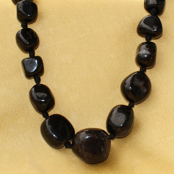 Imeora Natural Black Stone Necklace