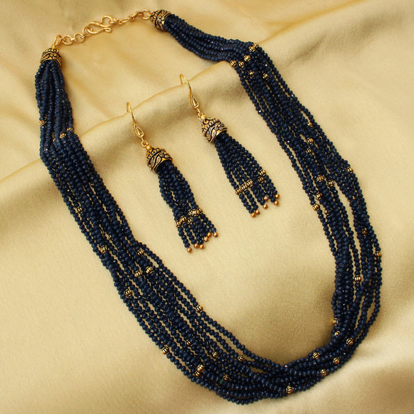Imeora Midnight Blue Majestic Necklace Set