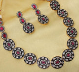 Imeora Red Victorian Fantasy Necklace Set