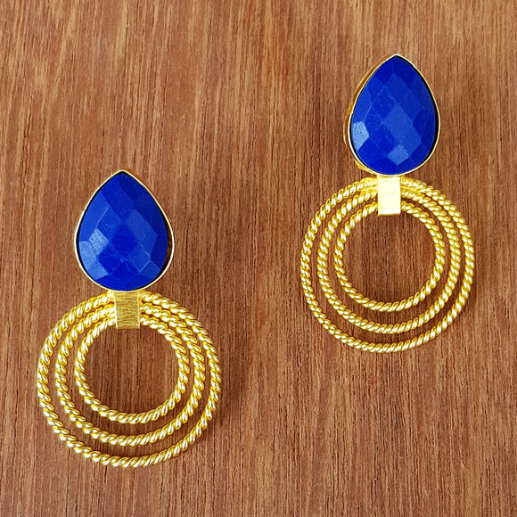 Imeora Blue Stone Earrings