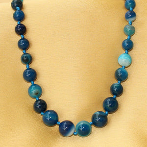 Imeora Light Blue Agate Graduation Necklace