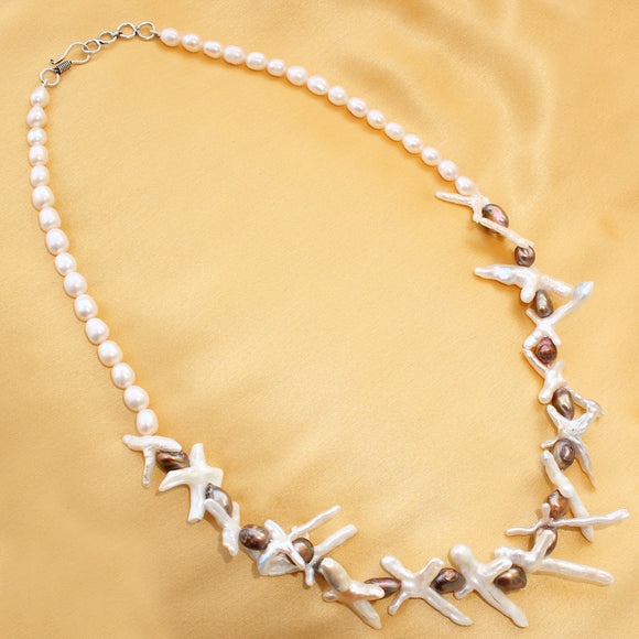Imeora Exclusive Fresh Water Pearl Cross Necklace