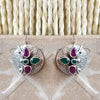 925 Silver Multicolor Hanging Earrings