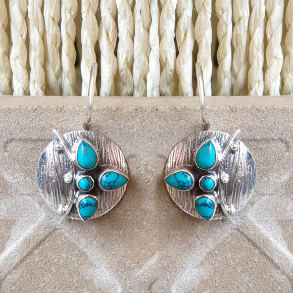 925 Silver Turquoise Earrings