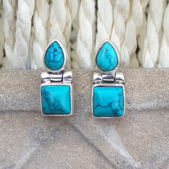 925 Silver Small Turquoise Studs