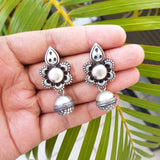 925 Silver Exclusive Antique Look Earring With Ball Drop