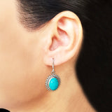 925 Silver Turquoise Hanging Earrings