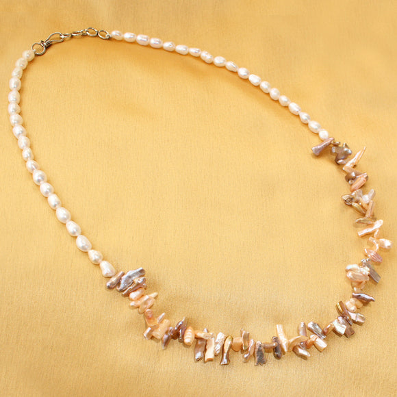 Imeora Exclusive Fresh Water Line Baroque Pearl Necklace