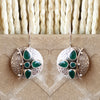 925 Silver Green Hanging Earrings