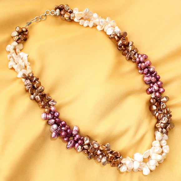 Imeora 3-color Multi Fresh Water Pearl Necklace