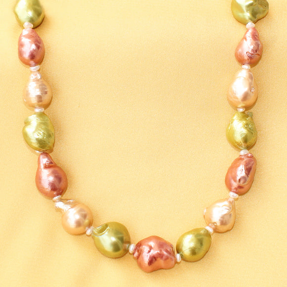 Imeora Multicolor Baroque Pearl Necklace
