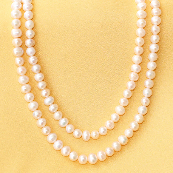 Imeora Double Line 22 Inch Fresh Water Pearl Necklace
