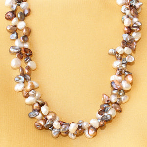 Imeora Multicolor Pearl Bunch Necklace