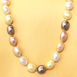 Imeora Exclusive Multicolor Shell Pearl 20 Inch Necklace