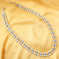 Blue Golden Pearl Necklace