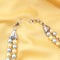 Imeora Blue Golden Color Double Line 8mm Shell Pearl Necklace