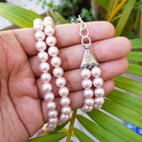 Baby Pink Shell Pearl Necklace