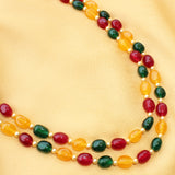 Imeora Multicolor Quartz Double Line 22 Inch Necklace