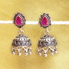925 Silver Pink Top With Ghungroo Jhumki