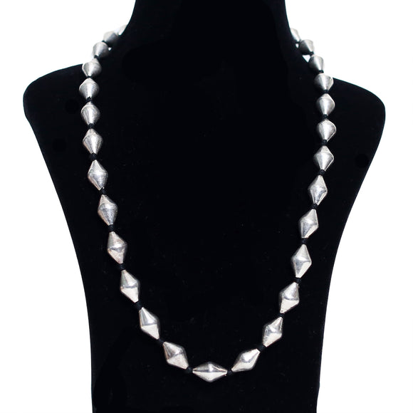 925 Oxidised Silver Beads Necklace