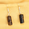 Imeora Tiger Eye Agate Cylindrical Shape Earrings