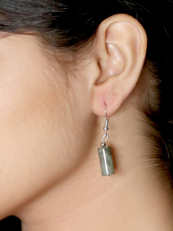 Imeora Labrodorite Cylindrical Shape Earrings