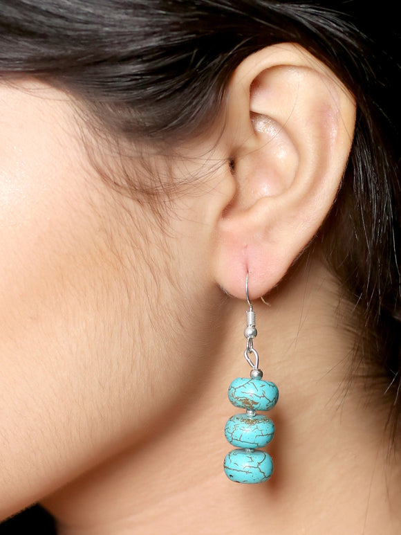 Imeora Tripple Turquoise Hanging Earrings