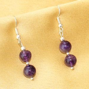 Imeora Real Amethyst Earrings