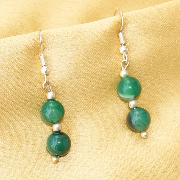 Imeora Green Agate Earrings