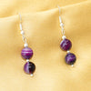 Purple Agate Earring