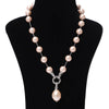 Imeora Stylish Shell Pearl Necklace With Shell Pearl Pendant