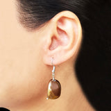 Imeora Chocolate Color Baroque Shell Pearl Earrings
