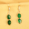Imeora Dark Green Agate Earrings