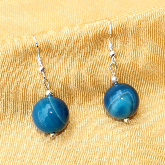 Imeora Light Blue Agate 14mm Earrings
