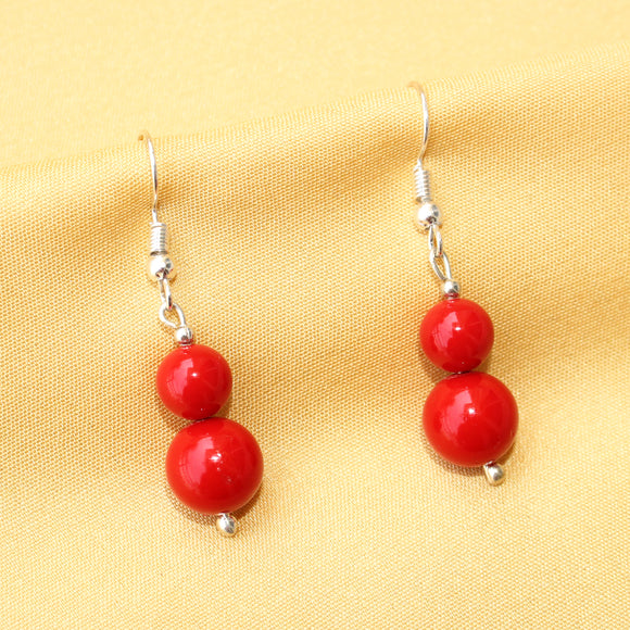 Imeora Red Shell Pearl Earrings