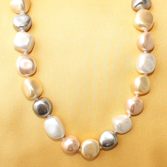 Imeora Multicolor Shell Pearl Knotted 20 inch Necklace