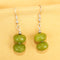 Imeora Parrot Green Quartz Earrings