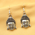 Imeora Silver Tone Buddha Earrings