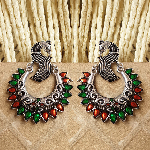 Imeora Peacock Multicolor Earrings