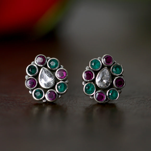 925 Silver Multicolor With Zircon Stud