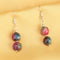 Imeora Knotted Multicolor Onyx 10mm Necklace With Earrings